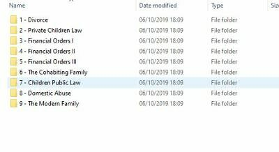 LPC Family Law and Practice Exam Notes 2019 – DISTINCTION LEVEL- 82% obtained in 5