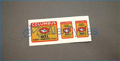 Bicycle Columbus MXL EDDY MERCKX Design Rinforzati Frame /& Fork Decals Stickers