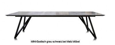 Mini Esstisch Eiche Grau Schwarz Bronze Tisch Grau Mineralisiert