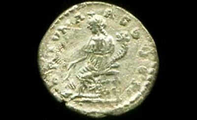 AD194 Roman Silver Denari Emperor Severus Prosperity Goddess Fortuna Emesa Syria 3
