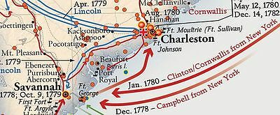 REVOLUTIONARY WAR MAP National Geographic American ...