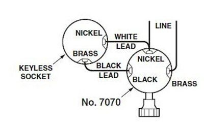 Leviton 3 TERMINAL ~ Turn Knob Lamp Socket Interior for Wiring Bottom Light Bulb 4