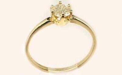 Antique 19thC ½ct Siberia Diamond Medieval Royal Gem Fearless Virtue Emblem 14kt 4