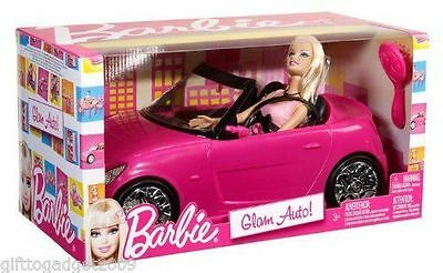Barbie Glam Auto Convertible Car with Barbie Doll V6744 Year 2010 New -Sealed 5