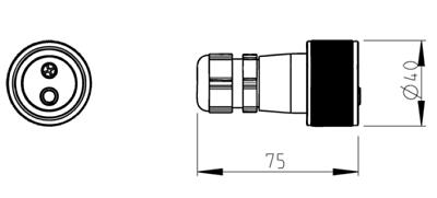 2 polig 6-42V bis 30A Kupplungssteckdose Feuerwehrdose THW Nato DLRG