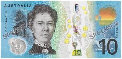 AUSTRALIA NEW $10 Dollars 2017 General Prefix Lowe/Fraser 1 x UNC Banknote