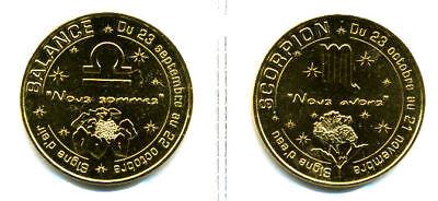 13 AUBAGNE Série de 12 signes du Zodiaque, Monnaie de Paris