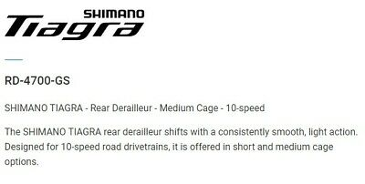 Shimano Tiagra RD-4700 SS Rear Derailleur Mech 10 Speed Short Cage