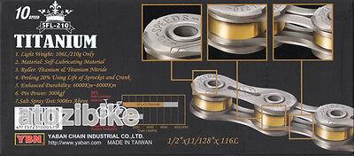 US Seller Silver Super Lightweight YBN Titanium 11 Speed Bike Chain SFL 211