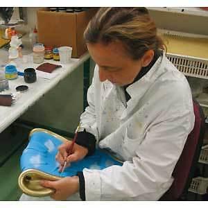 Antartidee Appendiabiti da Parete Gancio DX Bianco Decorato a Mano
