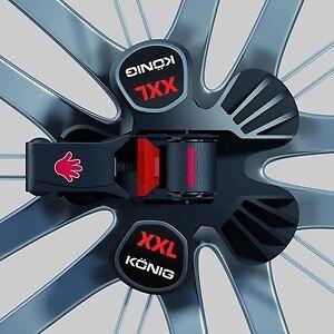 20 tuercas de rueda negro Ford Mondeo /& torneo tuercas b4y//b5y//bwy//ba7 nuevo