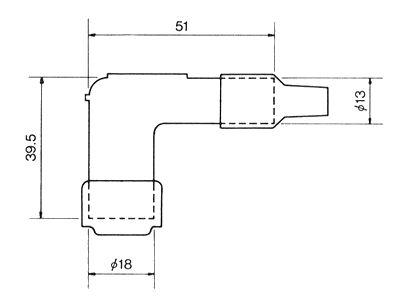 8031 1x NGK Resistor Spark Plug Cap LB05E black