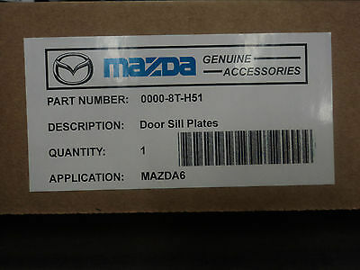 DOOR SILL TRIM PLATES 0000-8T-H51 MAZDA 6 2014 NEW OEM POLISHED SCUFF PLATES