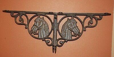 (5) Vintage-Look Horse Horseshoe Cast Iron Decor, Shelf Bracket, Wall Hook,brown 7