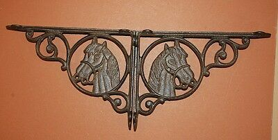 (5) Western Americana Horse Decor, Cast Iron, Shelf Bracket, Corbels, Wall Hooks 6