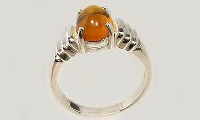 19thC Antique Baltic Cognac Amber Stone Age Magic Soul Egypt Etruria Sumer Ring