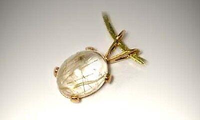 19thC Antique 1¾ct Titanium Quartz Crystal Ancient Frozen Sunray Petrified Water 4