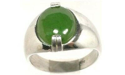 19thC Antique 4ct Jade Silver Neolithic Stone Age Europe Weapon Tool Swiss Alps 2