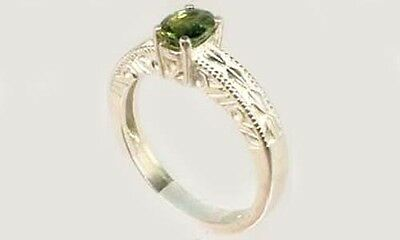 Antique 19thC ¾ct Sapphire Ancient Roman Gemstone of Saturn God of Abundance 925 5