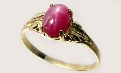 Antique 19thC 2¾ct Star Ruby Medieval Shaman Divination Gemstone 18kt Gold Ring 2