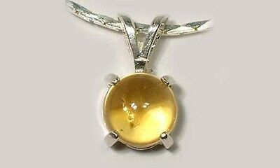 Celt Roman Sunshine 18thC Antique Scotland 1ct Citrine Gemstone Sterling Pendant 2