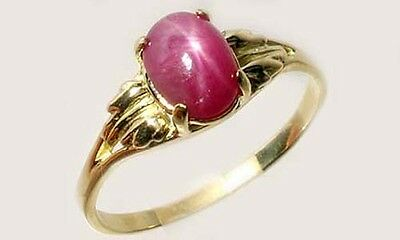 Antique 19thC 2¾ct Star Ruby Medieval Shaman Divination Gemstone 18kt Gold Ring 4