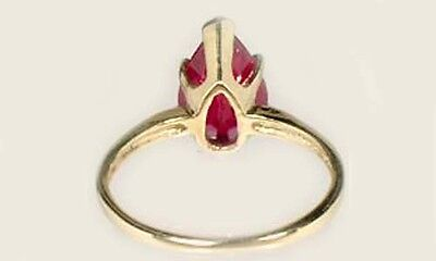 """19thC Antique 3ct Ruby Ancient Hebrew Israel Biblical """"Lord of Gems"""" Amulet 14kt 5"""