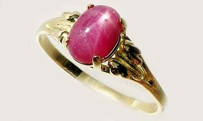 Antique 19thC 2¾ct Star Ruby Medieval Shaman Divination Gemstone 18kt Gold Ring 3