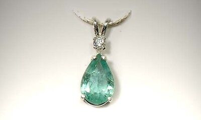 Emerald Pendant 2ct Antique 19thC Siberia King Arthur Holy Grail Charlemagne Gem 2