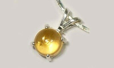 Celt Roman Sunshine 18thC Antique Scotland 1ct Citrine Gemstone Sterling Pendant