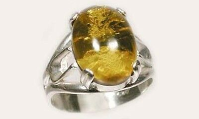 19thC Antique 2½ct Russian Baltic Amber Sacred Gem of Viking Norse Goddess Freya 2