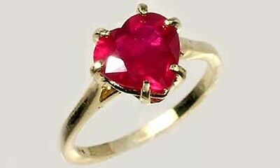 19thC Antique Handcrafted 2¼ct Ruby Ancient Etruscan Roman God War Mars Gem 14kt 2