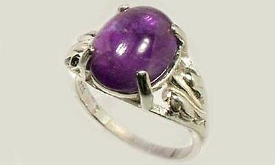 19thC Antique 3½ct Scotland Amethyst Ancient Greece Hoplite Spartan Dionysus Gem 2