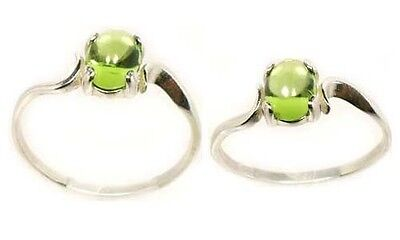 """18thC Antique 1ct Peridot Ancient """"Gem of the Sun"""" Protect Against Evil Eye .925 2"""