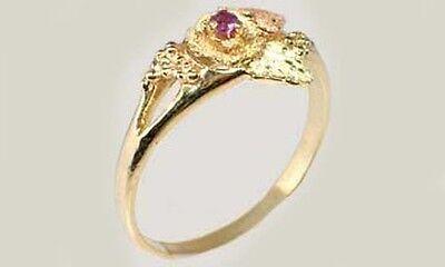 Handcrafted South Dakota Black Hills Red Green 12kt Gold Amethyst Ancient Spain 4