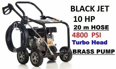 New Black Jet 10 Hp 4800 Psi  High  Pressure Water Washer Cleaner Gurney 20 M 12