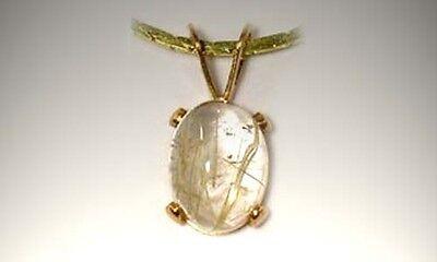 19thC Antique 1¾ct Titanium Quartz Crystal Ancient Frozen Sunray Petrified Water 2