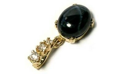 Antique 19thC 5¾ct Sapphire Gem of Ancient Celt Sorcery Oracles Prophecy 14ktYG