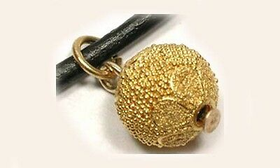 20thC Antique 22kt Gold Russian Ancient-Style Handcrafted Granulated Pendant