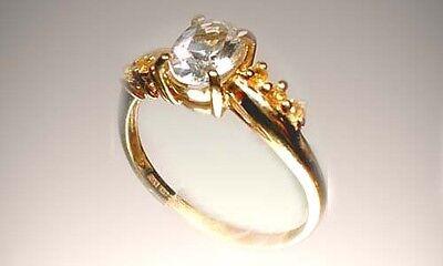 Handcut Topaz + Sapphire Ancient Greek Persian Magic Red Sea Island Gem 9kt Gold 2