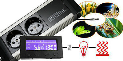 Thermostat Dimmer Zeitschaltuhr Alarm Aquarium/terrarium *display-Extern* Txc 5