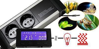 Thermostat Thermo Zeitschaltuhr Alarm Aquarium/terrarium *externes Display* Txb 5
