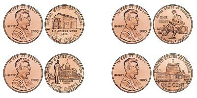 Complete Set Lincoln Bicentennial 2009 Cent Penny P & D From Mint Rolls 8 Coins 3