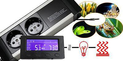 Thermostat Thermo Zeitschaltuhr Alarm Aquarium Terrarium **externes Display* Txa 5