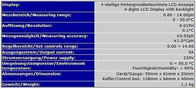 Ph/temperatur Controller/regler/meter Autokalibrierung Co2 Wert Koi  Ph-221 P14 5