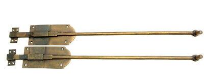 "2 long flush BOLT french aged style doors 18 "" heavy solid brass slide 47cm B 3"