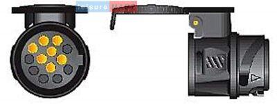 13 Pin to 7 Pin Car to Trailer Conversion Adapter Waterproof Socket Adaptor