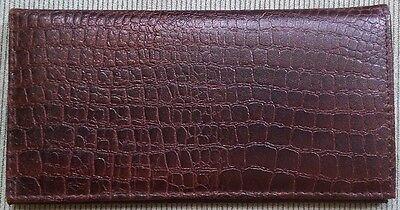 Genuine Leather PLAIN Checkbook Cover Crocodile Black NEW!!!