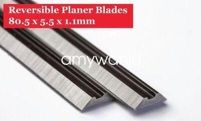 "20PC 3-1//4/"" 82mm Reversible Carbide Planer Blade For Makita DeWALT Bosch Skil"