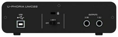 BEHRINGER USB Audio interface UMC22 2 inputs 2 outputs Black genuine from JAPAN 2